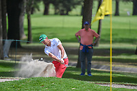 Rafael Cabrera Bello (ESP) hits from the trap on 15 during round 3 of the World Golf Championships, Mexico, Club De Golf Chapultepec, Mexico City, Mexico. 2/23/2019.<br /> Picture: Golffile | Ken Murray<br /> <br /> <br /> All photo usage must carry mandatory copyright credit (© Golffile | Ken Murray)