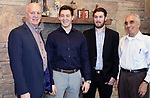 WATERBURY CT. 28 December 2018-122818SV23-From left, members, Robert Romanelli , Steven Romanelli , Nick Saverio Romanelli, Saverio Romanelli  at the Ponte Club in Waterbury Friday.  Nick Romanelli is the 4th generation to join the Ponte Club in Waterbury. <br /> Steven Valenti Republican-American
