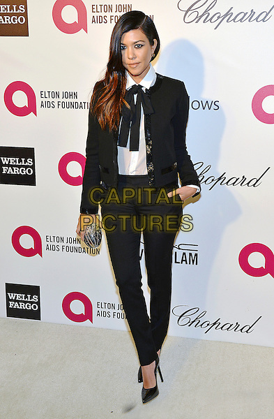 02 March 2014 - West Hollywood, California - Kourtney Kardashian. 22nd Annual Elton John Academy Awards Viewing Party held at West Hollywood Park.  <br /> CAP/ADM/CC<br /> &copy;ChewAdMedia/Capital Pictures