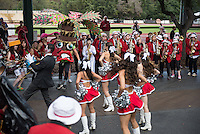 STANFORD, CA - October 25, 2014: The Stanford Cardinal vs Oregon State Beavers game at Stanford Stadium in Stanford, California. Final score, Stanford Cardinal 38, Oregon State Beavers 14