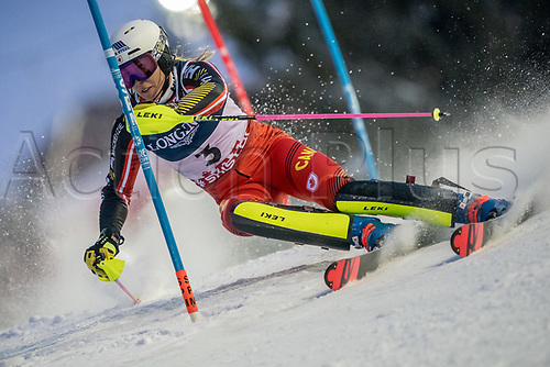 8th February 2019, Are, Sweden; Alpine skiing: Combination, ladies: Marie-Michele Gagnon from Canada on the slalom course.