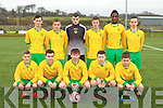 The Kerry team that played Cork in the U16 league in Killarney on Sunday front row l-r: Luke Moynihan, Dave Naughton, Gearoid Savage, Cathal O'Shea, Denis Cronin. Back row: Darragh O'Shea, Peter McCarthy, Conor Hurley, Jamie Clifford, Seguan Duyale and Jesse Stafford-Lacey