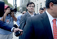 NEW YORK, NY - AUGUST 3: Former Turing Pharmaceuticals CEO Martin Shkreli smiles as he exits the United States Federal courthouse after day four of deliberations in his federal securities fraud trial on August 3, 2017 in New York City. Credit: Dennis Van Tine/MediaPunch