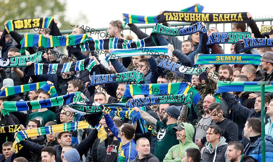 navijaci taurunum Super liga Srbije, Zemun - Crvena Zvezda 29.10.2017.  foto: Pedja Milosavljevic
