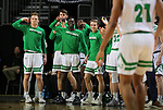SIOUX FALLS, SD - MARCH 8: Players on the North Dakota bench celebrate late in their game as they won over Purdue Fort Wayne at the 2020 Summit League Basketball Championship in Sioux Falls, SD. (Photo by Dave Eggen/Inertia)