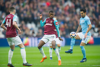 Manchester City Ilkay Gundogan and and West Ham's Edimilson Fernandes during the EPL - Premier League match between West Ham United and Manchester City at the Olympic Park, London, England on 29 April 2018. Photo by Andrew Aleksiejczuk / PRiME Media Images.