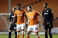 Blackpool's Armand Gnanduillet (left) and Steven Davies take up positions ahead of a free-kick<br /> <br /> Photographer Rich Linley/CameraSport<br /> <br /> The EFL Sky Bet League One - Blackpool v Barnsley - Saturday 22nd December 2018 - Bloomfield Road - Blackpool<br /> <br /> World Copyright &copy; 2018 CameraSport. All rights reserved. 43 Linden Ave. Countesthorpe. Leicester. England. LE8 5PG - Tel: +44 (0) 116 277 4147 - admin@camerasport.com - www.camerasport.com