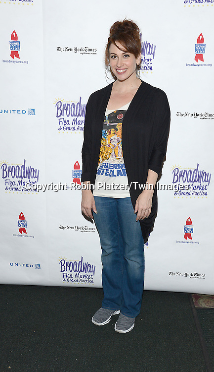 Lesli Magherita attends the 28th Annual  Broadway Cares/ Equity Fights Aids Flea Market and Auction on September 21,2014 in Shubert Alley in New York City. <br /> <br /> photo by Robin Platzer/Twin Images<br />  <br /> phone number 212-935-0770