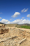 Israel, the cultic installation in Tel Hazor in the Galilee, site of the biblical city Hazor, a World Heritage site