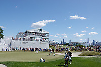 Brooks Koepka (USA) in action during the final round of the Northern Trust played at Liberty National Golf Club, Jersey City, USA. 11/08/2019<br /> Picture: Golffile | Phil INGLIS<br /> <br /> All photo usage must carry mandatory copyright credit (© Golffile | Phil INGLIS)