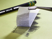 GRAPHENE<br /> Strongest Known Material In The World<br /> Graphite is rubbed on paper and a piece of clear tape is applied to the surface. The tape pulls up a single layer of graphene: carbon arranged in a one-atom thick, honeycomb lattice. Graphene is incredibly strong, and excellent electrical conductor.
