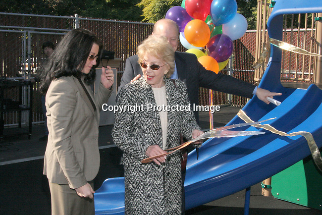 Anne Douglas ribbon cutting ceremony<br />Playground Dedication: Coeur d&rsquo;Alene Elementary School dedicates The New Anne &amp; Kirk Douglas Foundation and Creative Artists Agency Foundation Pre-Kindergarten and Kindergarten Playground<br />Coeur d&rsquo;Alene Elementary School<br />Venice, CA, USA<br />Wednesday, December 1st, 2004<br />Photo By Celebrityvibe.com/Photovibe.com, <br />New York, USA, Phone 212 410 <br />5354, email:sales@celebrityvibe.com
