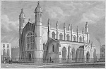 Trinity Church, Cloudesley Square, engraving from 'Metropolitan Improvements, or London in the Nineteenth Century' London, England, UK 1828 , drawn by Thomas H Shepherd