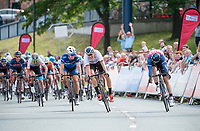 Picture by Allan McKenzie/SWpix.com - 16/07/17 - Cycling - HSBC UK British Cycling Grand Prix Series - Velo29 Altura Stockton Grand Prix - Stockton, England - Team Wiggins's Chris Latham is beaten by JLT Condor's Brenton Jones in a sprint to the finish.