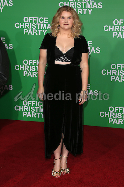 "07 December 2016 - Westwood, California - Jillian Bell.  ""Office Christmas Party"" Paramount Pictures Los Angeles Premiere held at Regency Village Theatre. Photo Credit: F. Sadou/AdMedia"