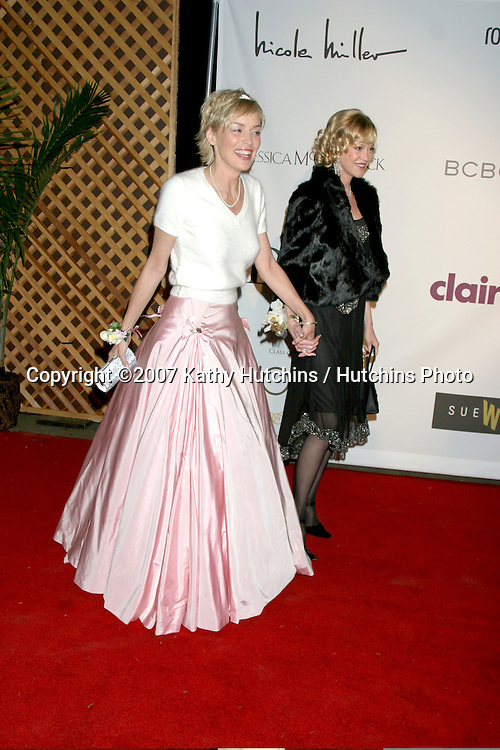 "Sharon Stone & Melanie Griffith.""Class of Hope Prom 2007"" Charity Benefit.Sportsman's Lodge.Studio City, CA.April 19, 2007.©2007 Kathy Hutchins / Hutchins Photo...."