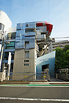 May 14, 2012, Tokyo, Japan - The Bizarre Design of Aoyama Technical College Building Attracts a lot of People's Attention