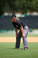 Umpire Jennifer Pawol during a game between the GCL Blue Jays and GCL Braves on August 5, 2016 at ESPN Wide World of Sports in Orlando, Florida.  GCL Braves defeated the GCL Blue Jays 9-0.  (Mike Janes/Four Seam Images)