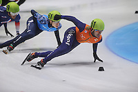 SHORTTRACK: DORDRECHT: Sportboulevard Dordrecht, 24-01-2015, ISU EK Shorttrack, Sjinkie KNEGT (NED | #51), ©foto Martin de Jong