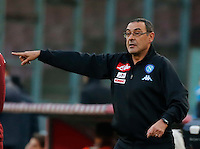 Maurizio Sarri  during the  italian serie a soccer match,between SSC Napoli and Torino       at  the San  Paolo   stadium in Naples  Italy , December 18, 2016