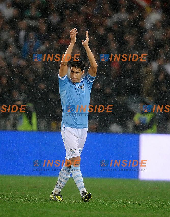 Anderson Hernanes  (Lazio).11/11/2012 Roma, Stadio Olimpico.Campionato di Calcio Serie A 2012/2013.Derby.Lazio vs Roma 3-2.Foto Antonietta Baldassarre Insidefoto