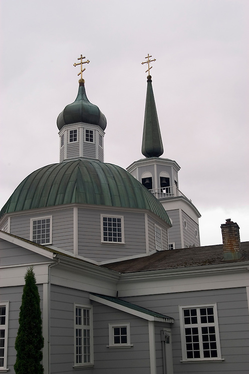 Alaska, Sitka..St. Michael Cathedral.Photo copyright Lee Foster, 510/549-2202, lee@fostertravel.com, www.fostertravel.com..