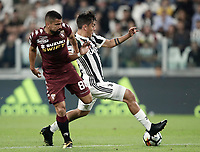 Calcio, Serie A: Torino, Allianz Stadium, 23 settembre 2017. <br /> Juventus' Paulo Dybala (r) is going to score during the Italian Serie A football match between Juventus and Tori0i at Torino's Allianz Stadium, September 23, 2017.<br /> UPDATE IMAGES PRESS/Isabella Bonotto