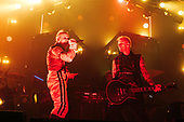 THE PRODIGY - Keith F;lint and guitarist Rob Holliday - performing live at the Arena in Birmingham UK - 10 Nov 2018.  Photo credit: Tony Woolliscroft/IconicPix