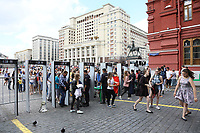 Einlasskontrolle zum Roten Platz am Platz Manedhznaya in Moskau - 20.06.2018: Sightseeing Moskau