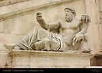 Nile River God detail Michelangelo Stairs Palazzo Senatorio Campidoglio Capitoline Hill Rome