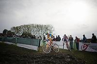 Koppenbergcross 2013<br /> U23 race<br /> <br /> Wout Van Aert (BEL) leading Mathieu van der Poel (NLD)
