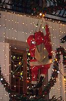 Europe/France/Alsace/68/Haut-Rhin/Colmar: Noël à Colmar - Détail de la décoration des maisons