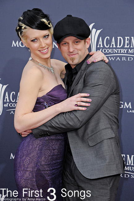 Shawna Thompson and Keifer Thompson of the husband and wife country duo Thompson Square attend the 46th Annual Academy of Country Music Awards in Las Vegas, Nevada on April 3, 2011.