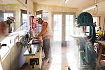 Dan Cearley woodworking in his shop