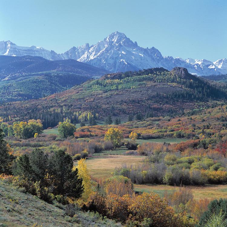 Fall colors near Teluride, Colorado