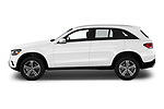 Car Driver side profile view of a 2020 Mercedes Benz GLC-Class GLC300 5 Door SUV Side View