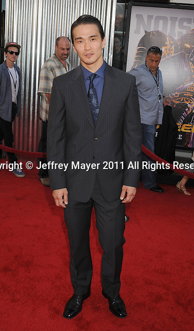 """UNIVERSAL CITY, CA - OCTOBER 02: Karl Yune attends the """"Real Steel"""" Los Angeles Premiere at Gibson Amphitheatre on October 2, 2011 in Universal City, California."""