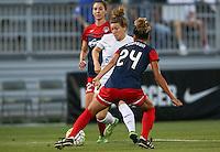 Boyds, MD - Saturday July 02, 2016: Caroline Kastor, Estelle Johnson during a regular season National Women's Soccer League (NWSL) match between the Washington Spirit and FC Kansas City at Maureen Hendricks Field, Maryland SoccerPlex.