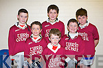 CUMANN NA mBUNSCOIL: The pupils of Tuirin Cathail NS, Gneeveguilla who played in the Allianz Cumann na mBunscoil County final at the Tralee Sports Complex on Friday l-r: Denny O'Callaghan, Jack Hickey, Daniel Fleming, Danny Hickey, John Cronin, Morgan Daly.