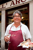 Francesco Pinto, owner of All' Arco, bàcaro serving popular Venetian Cicchetti, Italy