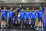 Team Italy at sign on before the Men Elite Road Race of the UCI World Championships 2019 running 280km from Leeds to Harrogate, England. 29th September 2019.<br /> Picture: Eoin Clarke | Cyclefile<br /> <br /> All photos usage must carry mandatory copyright credit (© Cyclefile | Eoin Clarke)