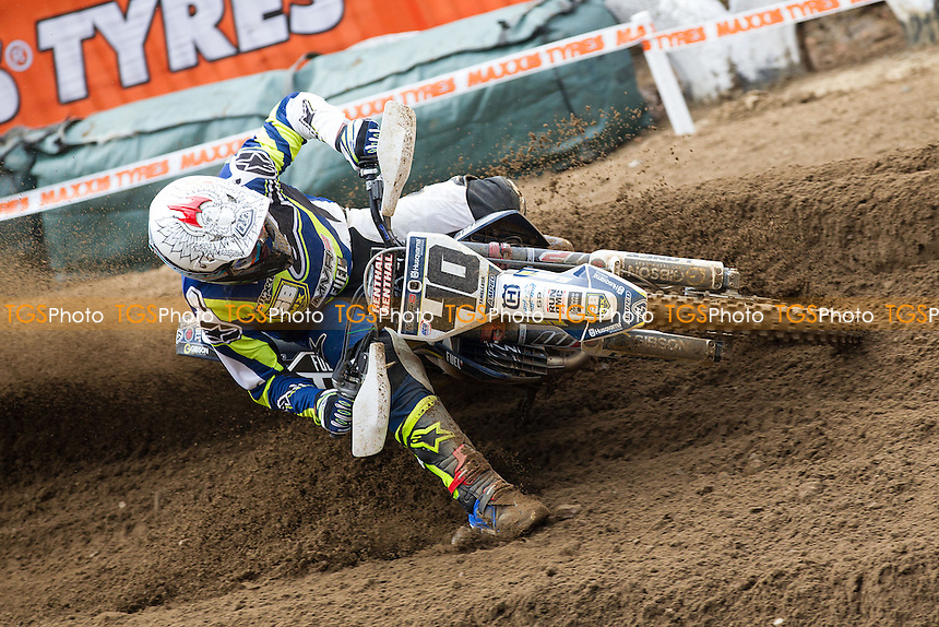 Tanel Leok, MVR D Fuel 10k Husqvarna took an impressive third place in the opening race during Maxxis ACU British Motocross at Cadders Hill MX Circuit, Lyng on 20th March 2016