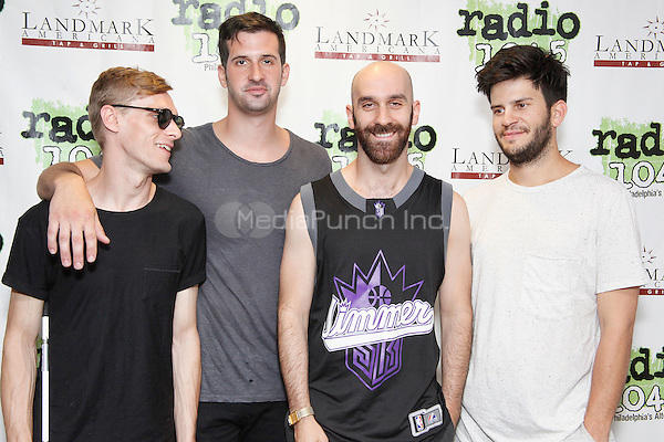 BALA CYNWYD, PA - JULY 28:  X Ambassadors visit Radio 104.5 performance studio in Bala Cynwyd, Pa on July 28, 2015  photo credit Star Shooter / MediaPunch