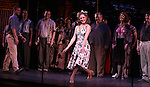 Laura Osnes & Company.during the New York City Center Encores! 'Pipe Dream' Opening Night Curtain Call in New York City on 3/28/2012.
