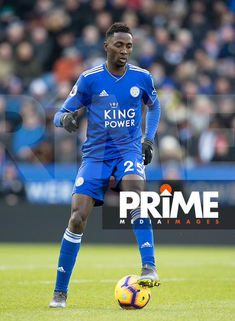Wilfred Ndidi of Leicester City during the Premier League match between Leicester City and Manchester United at the King Power Stadium, Leicester, England on 3 February 2019. Photo by Andy Rowland.