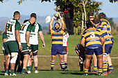 Joe Royal prepares to throw to a lineout. Counties Manukau Premier Club Rugby game between Manurewa and Patumahoe, played at Mountfort Park Manurewa on Saturday June 23rd 2018. Patumahoe won the game 29 - 24 after trailing 12 - 19 at halftime.<br /> Manurewa Kidd Contracting 24 - Petelo Ikenasio, David Osofua, Paolelei Luteru, Pisi Leilua tries, Timothy Taefu 2 conversions,<br /> Patumahoe Troydon Patumahoe Hotel 29 - Kalim North, Shea Furniss, Jonny Wilkinson, Mark Royal, James Brady tries,  Broc Hooper 2 conversions.<br /> Photo by Richard Spranger