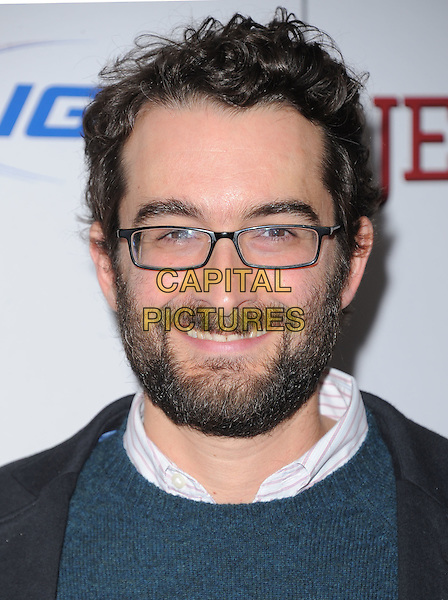 "Jay Duplass.""Jeff, Who Lives At Home"" Los Angeles Premiere held at the Directors Guild of America, West Hollywood, California, USA..March 7th, 2012.headshot portrait blue black glasses beard facial hair .CAP/RKE/DVS.©DVS/RockinExposures/Capital Pictures."