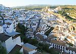 Whitewashed buildings on hillside in village of Setenil de las Bodegas, Cadiz province, Spain