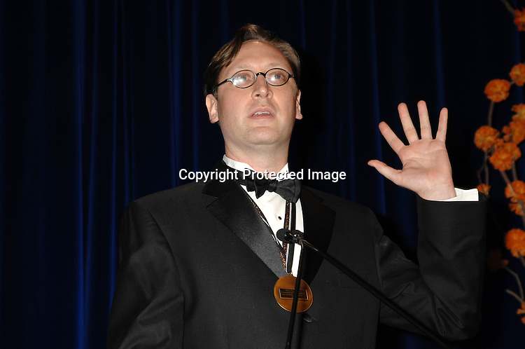 Young People's Literature winner MT Anderson..at The National Book Awards Gala on November 15, 2006 ..at The Marriott Marquis Hotel in New York City...Photo by Robin Platzer, Twin Images