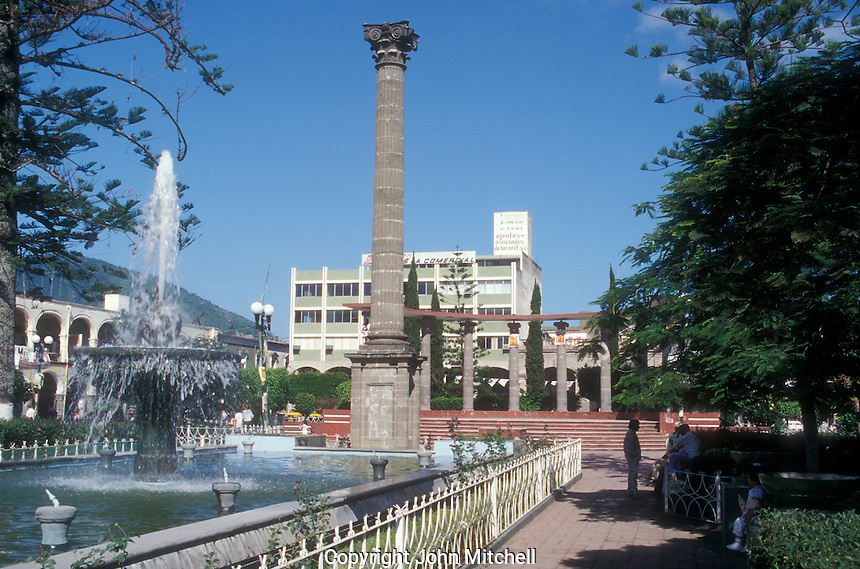 Fountains in the main plaza, Tepic, Nayarit, Mexico